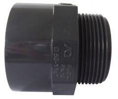 Übergangsmuffennippel Achtkant PN 16 - Klebemuffe/Klebestutzen x Außengewinde