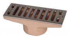 Rinnenablauf Bronze, 160 x 60 mm m. senkr. 2210020