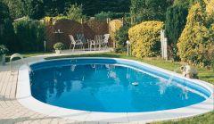 Ovalformbecken Toscana - Beckentiefe 1,20 m - Folienstärke 0,8 mm