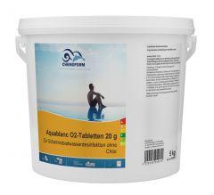 Aquablanc O2-Tabletten 20g    5 Kg 0595-05
