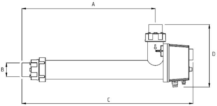 Abmessungen des Daprá Schwimmbad Elektroheizer D-EWT-N