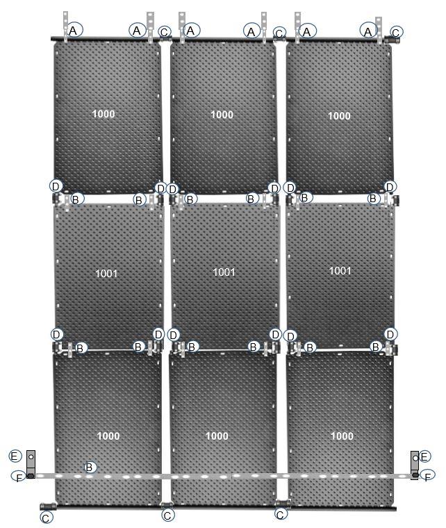OKU Solarabsorber Befestigungslaschen für Dachziegel Montage